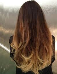 Ombre Hair Brown To Blonde Medium Length Straight Amathairco