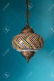 colorful chandelier lighting. Beautiful Chandelier Light With Colorful Decoration In Indian Style Stock Photo - 99227401 Lighting P