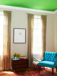 To Paint Living Room Paint A Bold Color On Your Ceiling Hgtvbedroom Living Room What