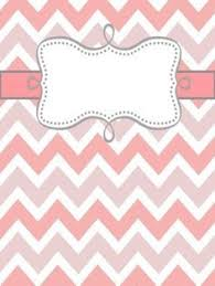 Chevron Themed Binder Covers W Elephant Party Binder