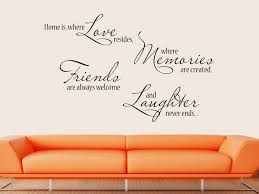 Wandtattoo Home Is Where Love Resides Where Memories Are Created