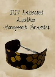 make your own embossed leather bracelet would make a perfect gift full step