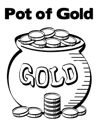 Small Picture Pot of Gold Contain Bunch of Gold Coins Coloring Page Download