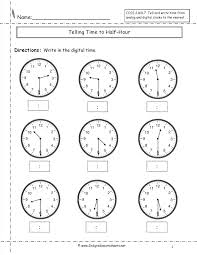 Printable math worksheets telling time | Download them or print