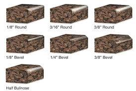 basic edge types 1 4 round granite bevel edges