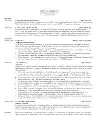 mba resume templates