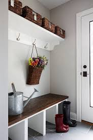 Decorating: Gray Mudroom Color With Rural Style - Mudroom Storage
