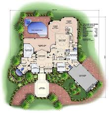 florida house plans. Floor Plan First Story For This Set Of Mediterranean Style House Plans. Florida Plans A