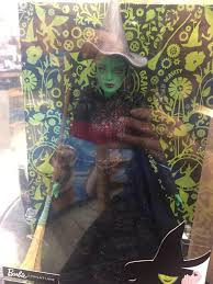 barbie wicked elphaba doll in act ii costume with hat broom walmart