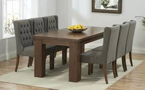 8 seater dark wood dining table sets