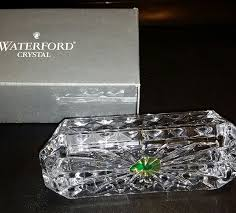 com waterford crystal westover business card holder new in waterford box office s
