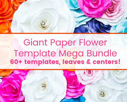 Giant Paper Flower Backdrop Wedding Paper Flower Backdrop Paper Flower Wall Flower Templates