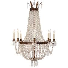 beautiful french empire crystal and bronze chandelier at 1stdibs pertaining to modern home french empire crystal chandelier plan