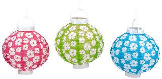 Light Up Paper Lanterns Beistle Light Up Hibiscus Paper Lanterns 8 Inch Cerise Light Green Turquoise White