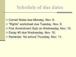 "our first amendment rights ppt video online  cornell notes due monday nov 8 ""rights"" worksheet due tuesday"