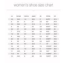 Size Guide The Urban Shoe Myth