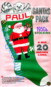 Vintage Christmas Stocking Knitting Pattern