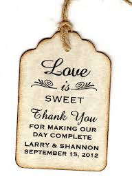 thank you tags for wedding favors 100 wedding favor gift tags place cards escort tags thank you