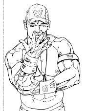 Luxury Wwe Coloring Pages John Cena For Coloring Pages John John