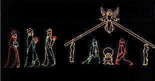 Manger Light Commercial Nativity Scene For Christmas Light Shows And