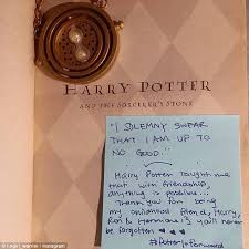harry potter fans hide inspiring notes in jk rowling s books for  lit love besides sharing insight into what the story does for readers the note