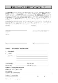 Software Contract Template With Artist Invoice Template Invoices