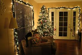 collection office christmas decorations pictures patiofurn home. Lovely Indoor Christmas Decorations With Tree Decoration F Lights Also Garland On White Wooden Fro. Home Collection Office Pictures Patiofurn P