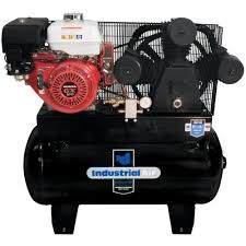 gas powered air compressor for service truck. industrial air 30 gal. truck mount compressor with 9 hp electric start honda gas powered for service r