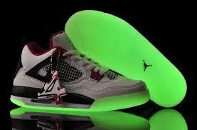 jordan shoes for girls 2014 black and white. girls jordan 4 white-black/varsity-red glow-in-the- shoes for 2014 black and white 0