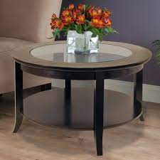 genoa coffee table glass inset and
