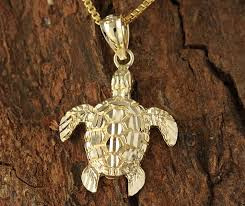yellow gold turtle pendant m makani hawaii hawaiian heirloom jewelry wholer and manufacturer