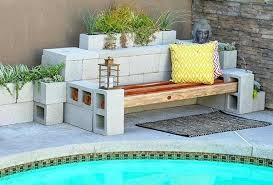cinderblock furniture. Cinder Block Patio Furniture Bench In The Garden Creative Ideas For Your Cinderblock