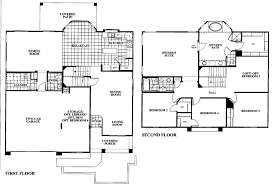 Elegant Floor Plan For A 4 Bedroom 2 Story Vintage House Zspmed Of Story Floor Plans  Vintage