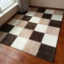 neeu 30cm piece puzzle mat eva foam gy velvet carpet door mat jigsaw mat plush