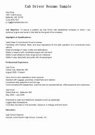 Truck Driver Objective For Resume Sample Resume For Truck Drivers Beautiful Taxi Cab Driver Resume 22