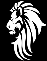 lion face black and white clipart. Black White Lion Head Clip Art Vector Online Royalty Free Public Domain To Face And Clipart Pinterest