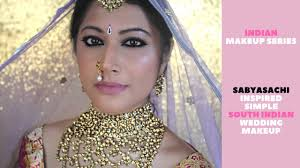 the sabyasachi bride south indian simple wedding makeup acne series beauty