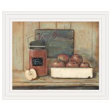 apple er by artist pam britton this decorative country white framed print 17 x14 of a wooden box of apples sig