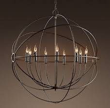 chandelier restoration hardware vintage pendant lamp black color