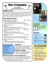 Resume Examples Templates Easy Writing Detail Bartender Resume