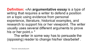 definition an argumentative essay is a type of writing that  2 definition an argumentative essay