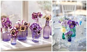 Decorative Colored Glass Bottles Pretty little bottles wedding decor ideas Want That Wedding 69