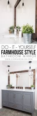 image bathroom light fixtures. farmhouse bathroom mirror by cherished bliss diy decor projects for fixer upper style image light fixtures