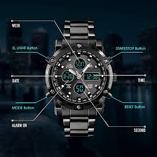 BHGWR <b>Mens</b> Analogue Digital <b>Watch</b> - <b>Men</b> Military <b>Sport Watch</b> ...