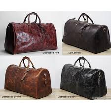classic men s large handmade vintage genuine leather duffle bag travel bag luggage weekend bag