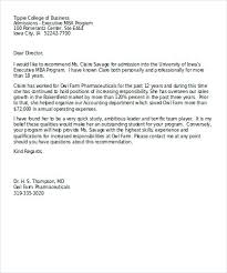 Recommendation Letter For Visa Application Business Recommendation Letter For A Company Sample Formal Reference