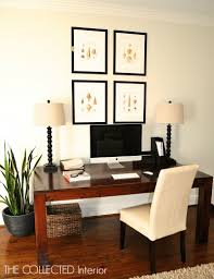Living Room With Desk The Collected Interior Re Purpose A Dining Room Table Into A Desk