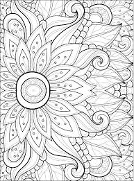 Free Printable Coloring Sheets Of Flowers Cheapflowersinfo
