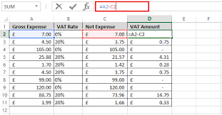 Calculating VAT 03