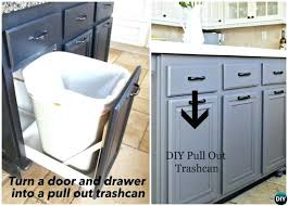 trash can cabinet door drawer pull out trash can smart ways to hide your trash can trash can cabinet